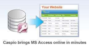 Caspio brings MS Access online in minutes